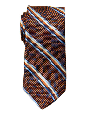 Dion 29195 Boy's Tie- Orange/Blue- Stripe