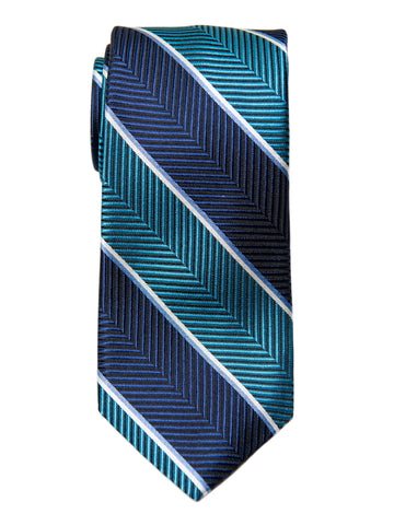 Dion 29197 Boy's Tie- Teal/Navy- Stripe