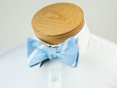 ScottyZ 29219 Boy's Bow Tie- Stripe- Sky