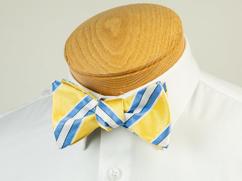 ScottyZ 29221 Boy's Bow Tie- Stripe-Yellow/Blue