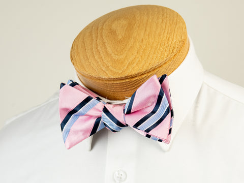 ScottyZ 29222 Boy's Bow Tie- Stripe-Pink/Blue