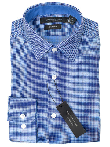 Andrew Marc 29282 Boy's Dress Shirt - Skinny Fit - Neat- Blue