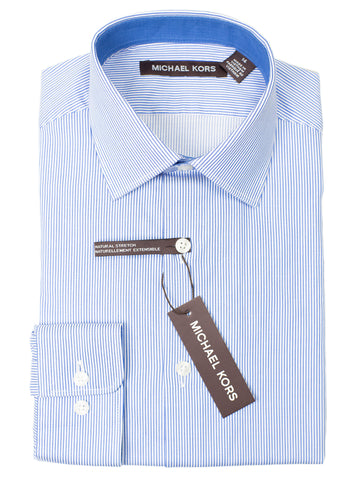 Michael Kors 29296 100% Boy's Dress Shirt - Stripe - Blue
