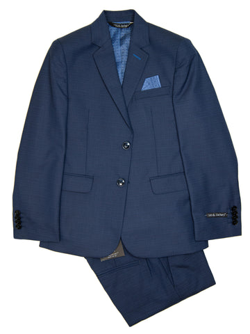 Leo & Zachary 29318 Boy's Skinny Fit Suit Separate Jacket - Check - Ink