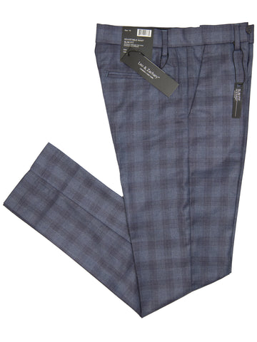 Leo & Zachary 29387 Boy's Dress Pants - Plaid - Blue/Wine