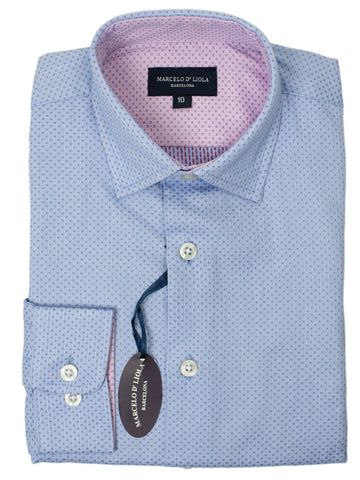 Leo & Zachary 29468 Boy's Dress Shirt- Neat- Blue