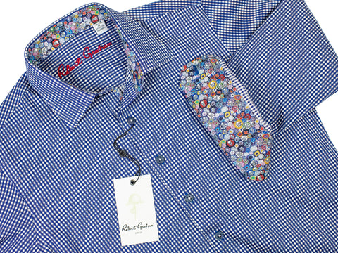 Robert Graham 29504 Boy's Sport Shirt-Check - Navy