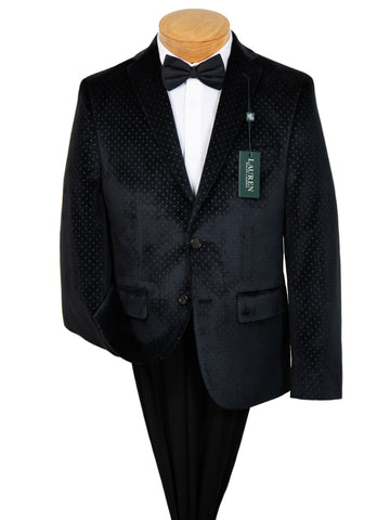 Image of Lauren Ralph Lauren 29563 Boy's Sport Coat  - Velvet Dot - Black