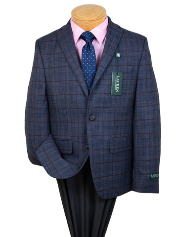 Image of Lauren Ralph Lauren 29570 Boy's Sport Coat  - Plaid - Navy/Wine