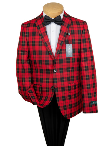 Image of Lauren Ralph Lauren 29617 Boy's Sport Coat  - Plaid - Red/Black