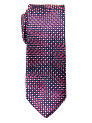 Heritage House 29624 Boy's Tie - Neat - Red/Navy