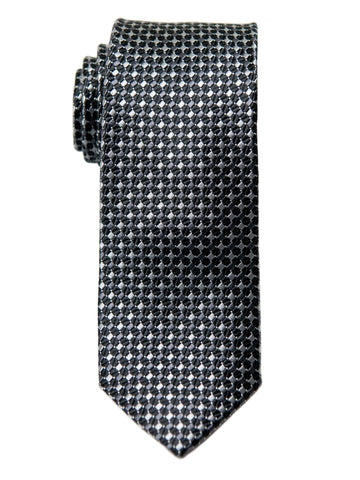 Heritage House 29630 Boy's Tie - Neat - Black/Silver