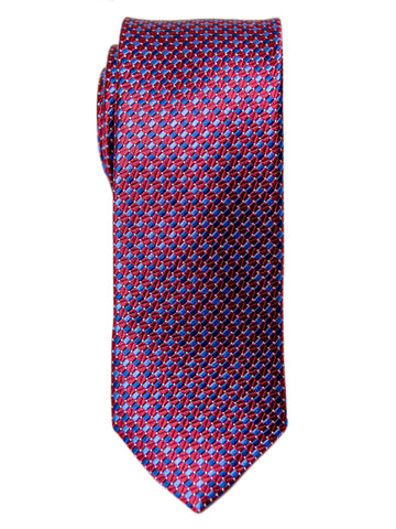 Heritage House 29632 Boy's Tie - Neat - Red/Blue