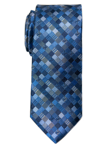 Heritage House 29652 Boy's Tie - Check- Blue