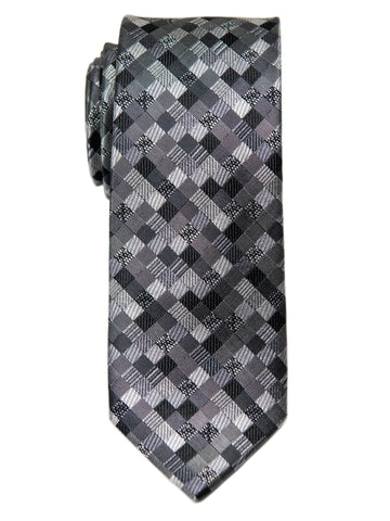 Heritage House 29654 Boy's Tie - Check- Grey/Black