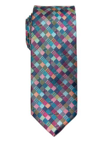 Heritage House 29656 Boy's Tie - Check- Multi Color