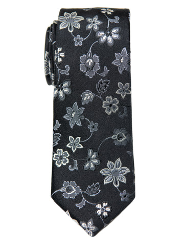 Heritage House 29660 Boy's Tie - Floral- Black