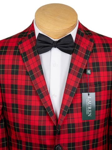 Lauren Ralph Lauren 29617 Boy's Sport Coat  - Plaid - Red/Black