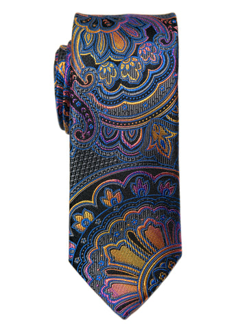 Heritage House 29673 Boy's Tie - Paisley- Black/Purple