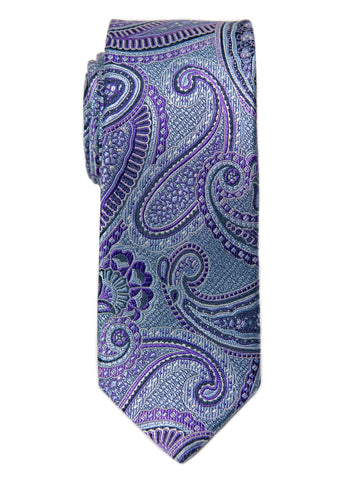 Heritage House 29679 Boy's Tie - Paisley- Purple/Grey