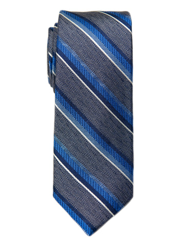 Heritage House 29685 Boy's Tie - Stripe- Grey/Blue