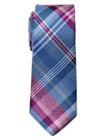 Heritage House 29687 Boy's Tie - Plaid- Blue/Pink