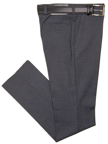 Andrew Marc 29693P Boy's Suit Separate Pant - Skinny Fit  - Houndstooth - Grey