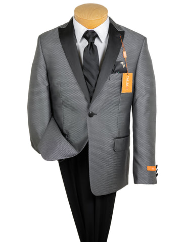 Image of Tallia 29836 Boy's Sport Coat - Neat - Silver/Black