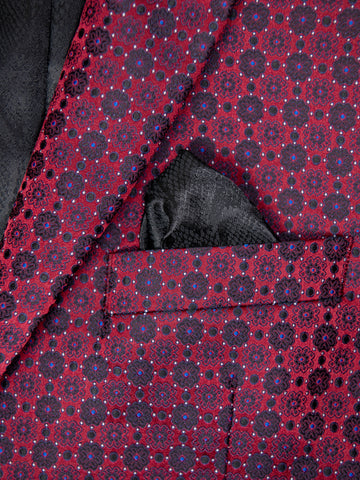 Image of Tallia 29990 Boy's Sport Coat - Neat Pattern - Burgundy