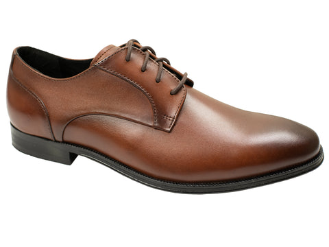 Florsheim 30047 Boy's Dress Shoe - Plain Toe Oxford - Cognac