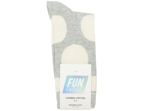 Boy's Fun Socks 30097 - Grey/Ivory