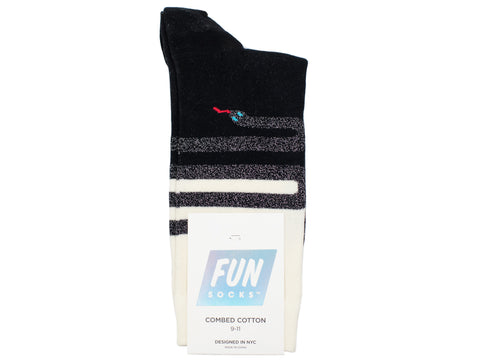Boy's Fun Socks 30102 - Black/White