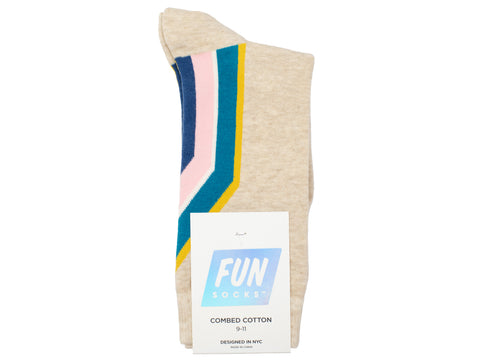 Boy's Fun Socks 30104 - Cream/Multi