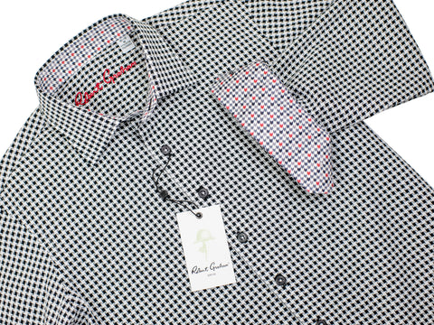 Robert Graham 30148 Boy's Sport Shirt -Houndstooth - Black