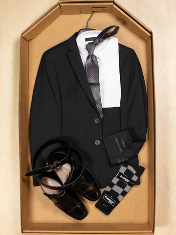 Complete Black Skinny Fit Suit Outfit 30174