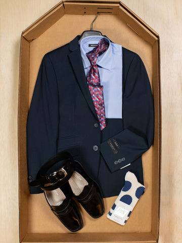Complete Navy Skinny Fit Suit Outfit 30188