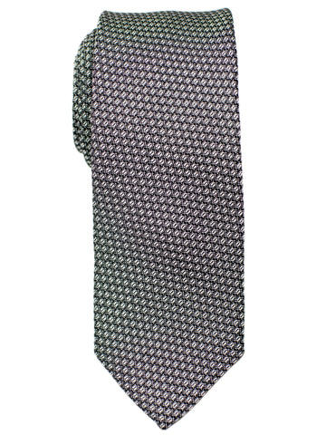 Heritage House 30703 Boy's Tie - Neat- Silver/Black