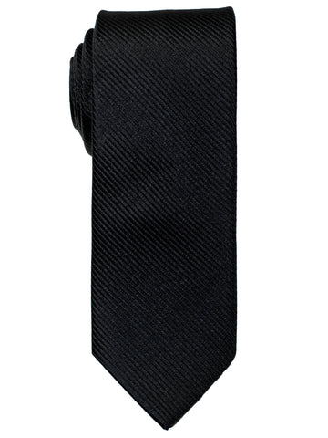 Heritage House 30745 - Boy's Tie - Diagonal Tonal Weave - Black