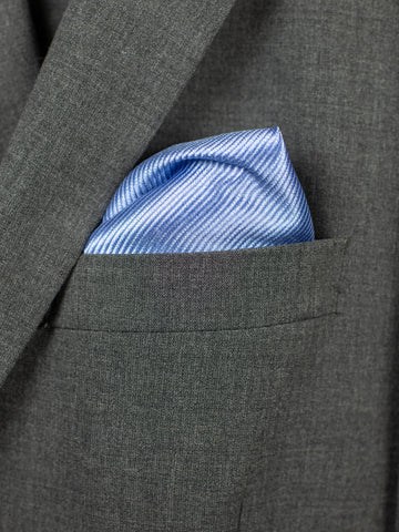 Heritage House Pocket Square 30753PS - Tonal Stripe - Blue