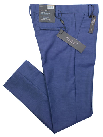 Leo & Zachary 30915P Boy's Skinny Fit Suit Separate Pants - Heathered Blue