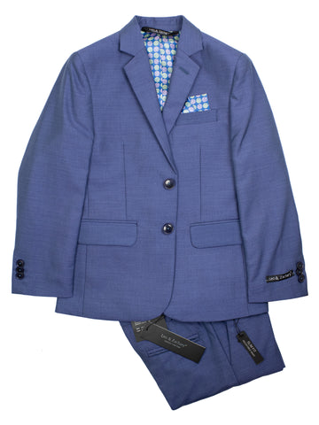 Leo & Zachary 30915 Boy's Skinny Fit Suit Separate Jacket - Heathered Blue