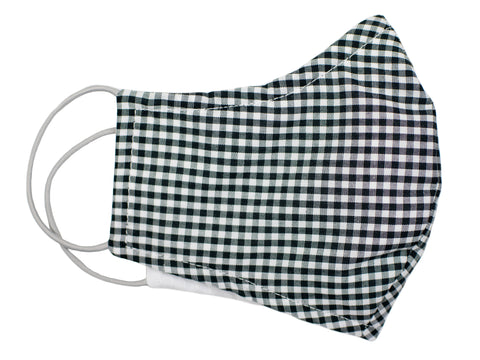 Dion 31122 Boy's Mask - Gingham - Black/White