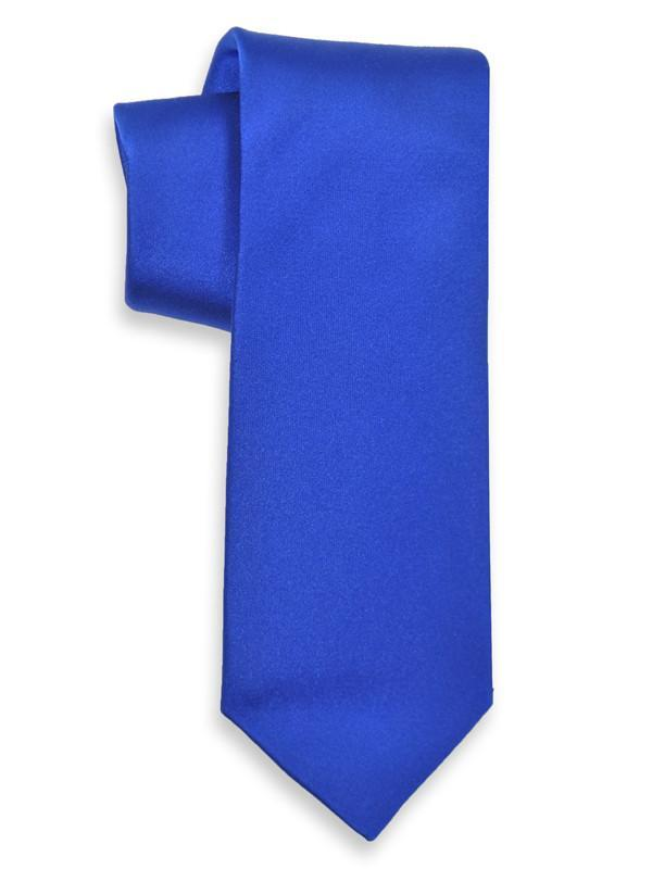 Heritage House 3740 100% Woven Silk Boy's Tie - Solid - Royal Blue Boys Tie Heritage House