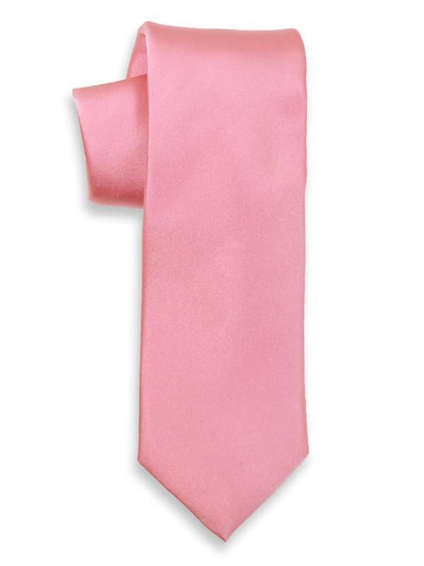 Heritage House 3744 100% Woven Silk Boy's Tie - Solid - Pink Boys Tie Heritage House