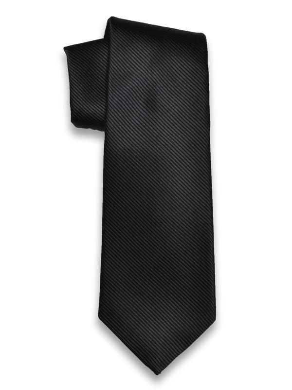 Heritage House 3755 100% Woven Silk Boy's Tie - Tonal Stripe - Black Boys Tie Heritage House
