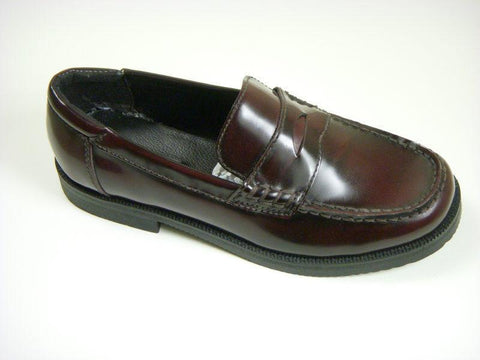 Reaction By Kenneth Cole 4597 Leather Boy's Shoe - Penny Loafer - Burgundy Boys Shoes Kenneth Cole