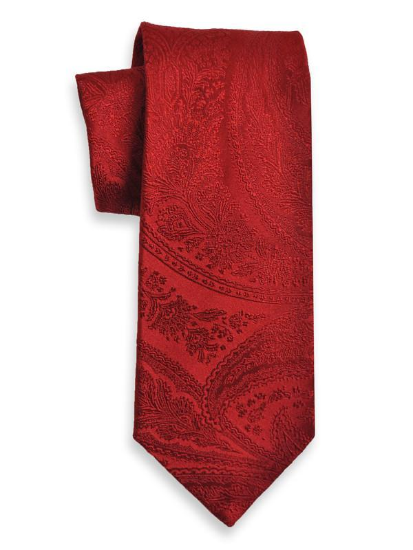 Heritage House 5060 100% Woven Silk Boy's Tie - Tonal Paisley - Red Boys Tie Heritage House