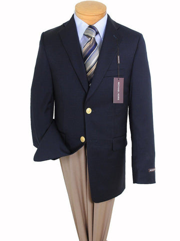 Michael Kors 5434 Navy Boy's Blazer - Solid Gabardine - 100% Tropical Worsted Wool - Dress Jacket from Boys Blazer Michael Kors