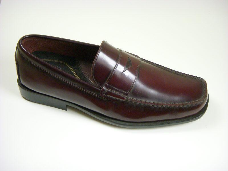 Reaction By Kenneth Cole 5257 Leather Boy's Shoe - Penny Loafer - Oxblood Boys Shoes Rockport
