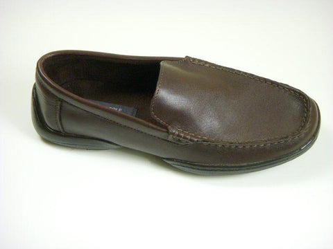 Reaction By Kenneth Cole 6317 Leather Boy's Shoe - Loafer - Chocolate Boys Shoes Kenneth Cole